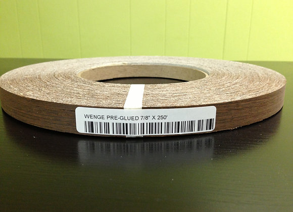"WENGE WOOD EDGEBANDING PREGLUED (1 1/4"" TO 2"")"