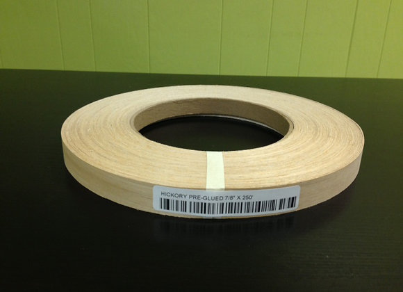 "HICKORY WOOD EDGEBANDING PREGLUED (5/8"" TO 1 1/8"")"