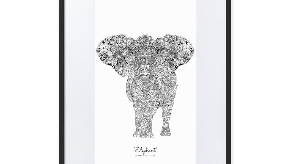 """Elephant"" - Matte Paper Framed Poster"
