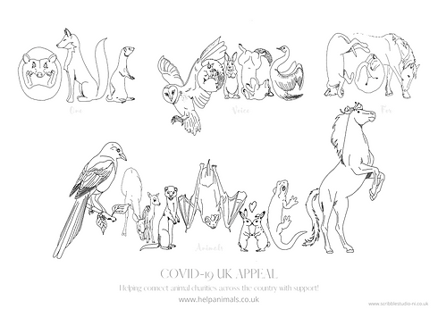 One Voice For Animals Colouring Sheet.pn