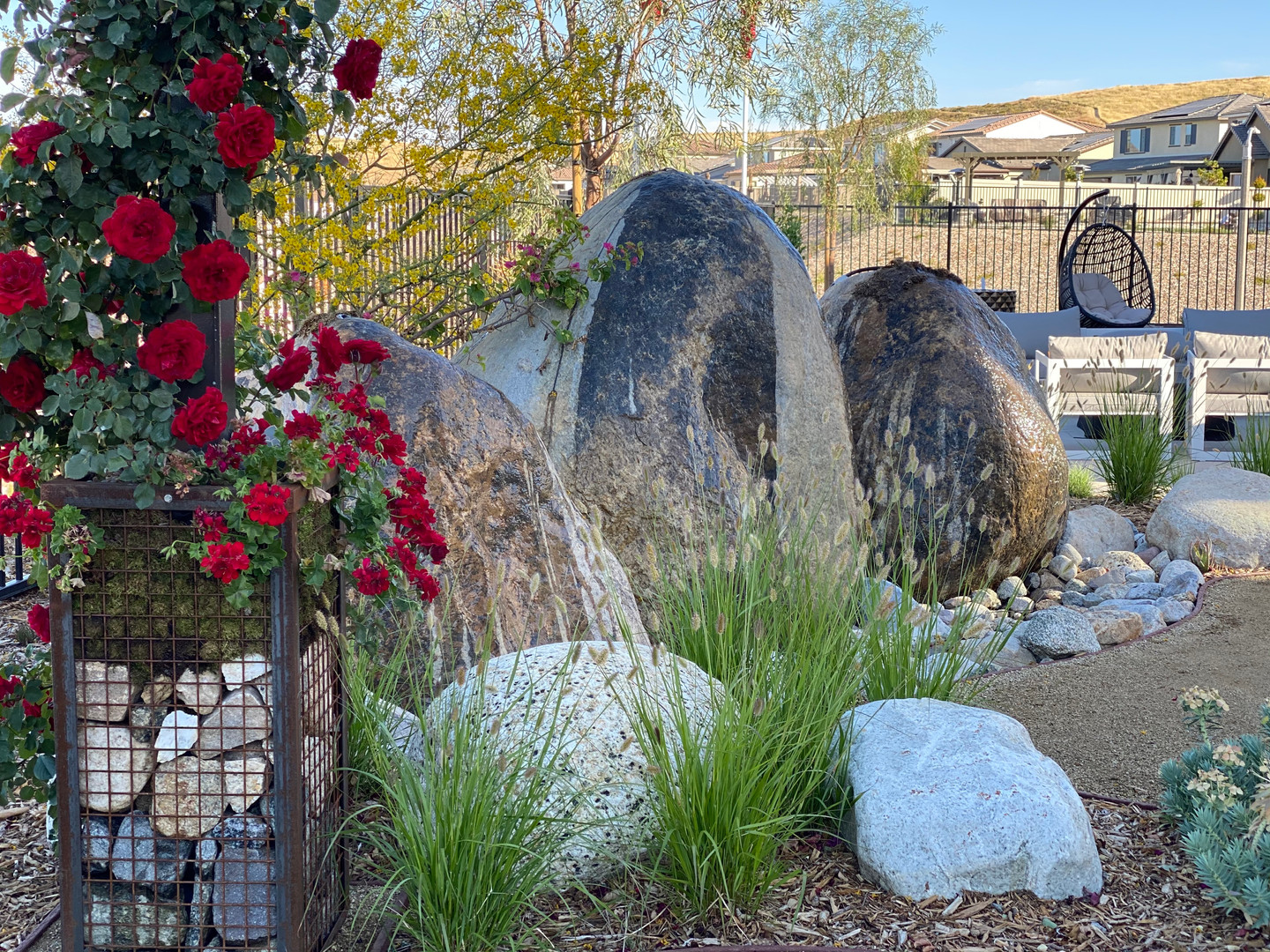 Boulder water feature- large