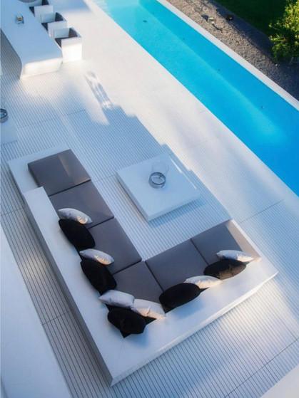 Croatian limestone patio