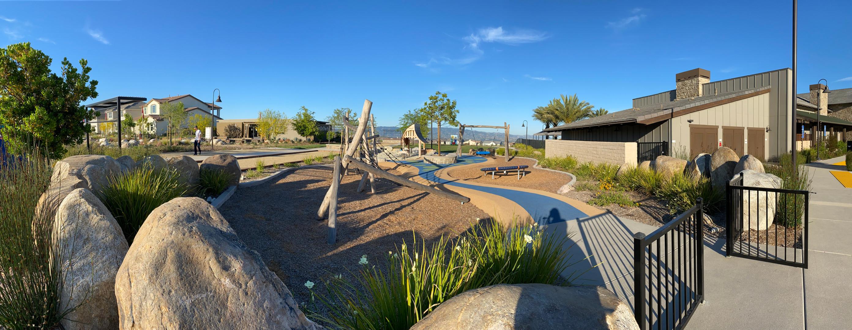 Boulder playground wall
