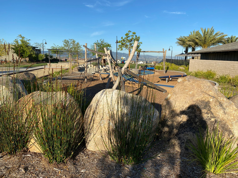 Playground boulder wall