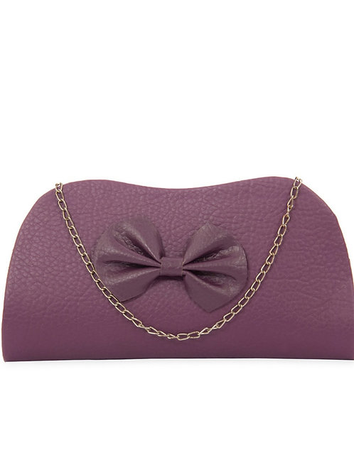 Fashion Hike Purple P.u. Clutch