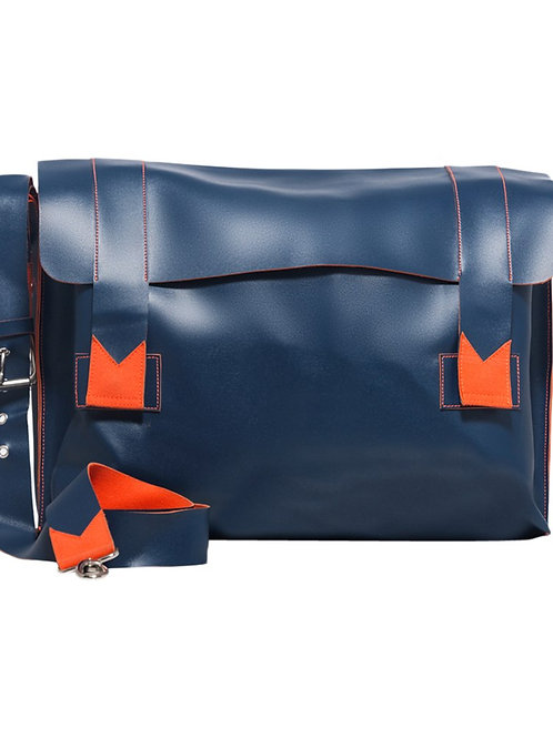 Verage Harp Blue & Orange Travel Messenger Bag