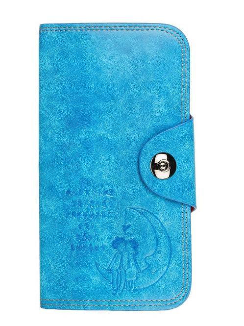 Louise Belgium Blue Magnet Button Clutch