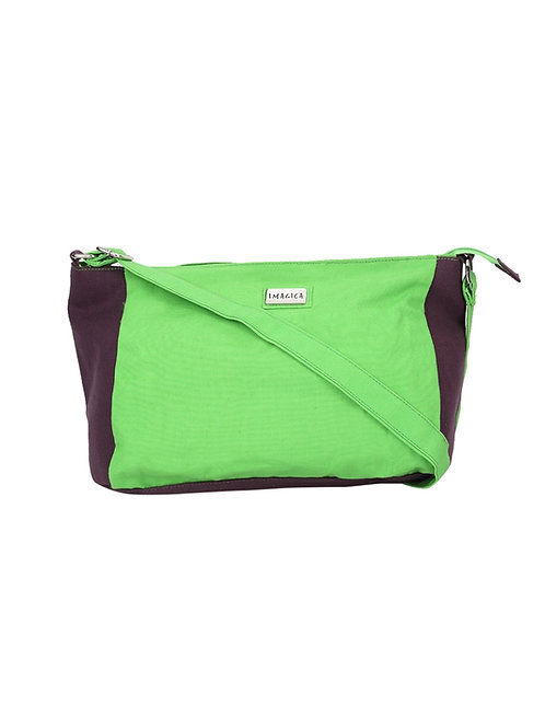 Verage Imagica Parrot Green Canvas Messenger Bags