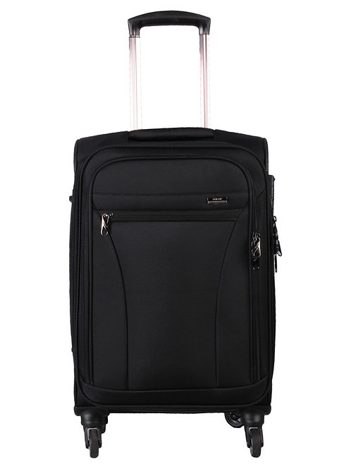 Verage Moscow Polyester 4 Wheel Trolley Luggage-Black