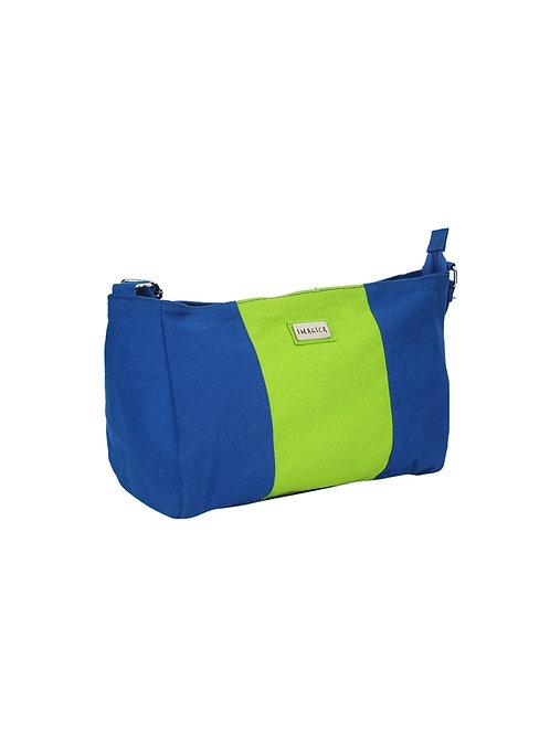 Verage Imagica German Blue Canvas Messenger Bags