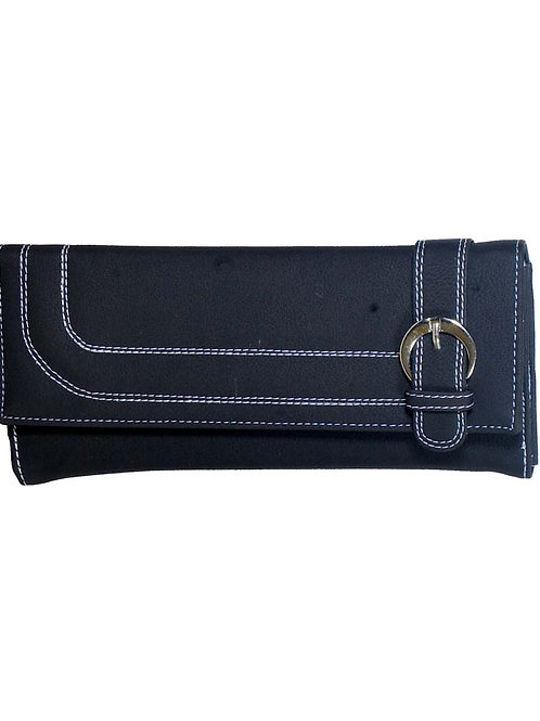 Marco Sanchez Black Leather Wallet For Women