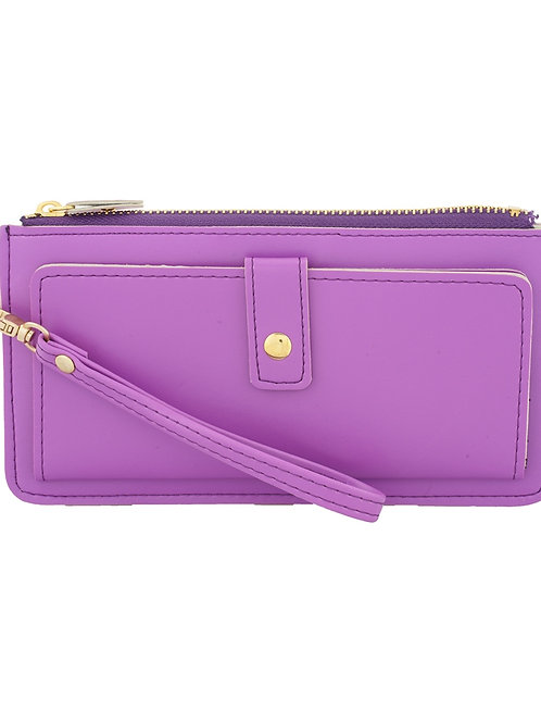 Paradiso Non Leather Purple Wallet for Women