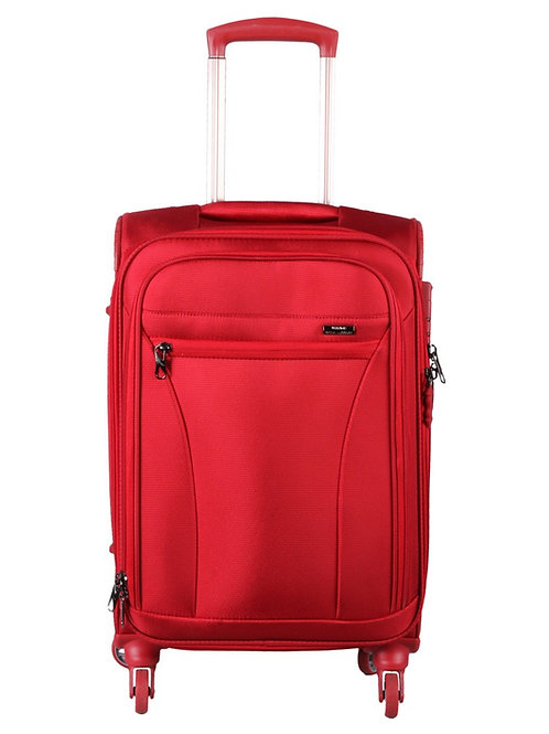 Verage Moscow Polyester 4 Wheel Trolley Luggage-Red