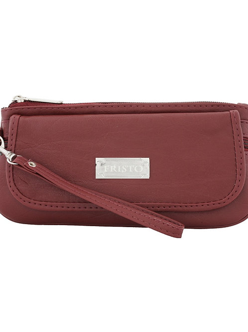 Vera Fristo Fristo Non Leather Maroon Wallet for Women