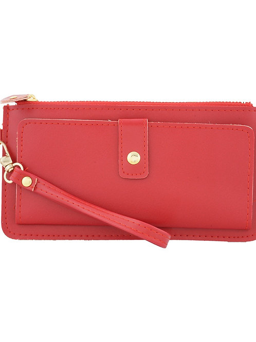 Paradiso Non Leather Red Wallet for Women