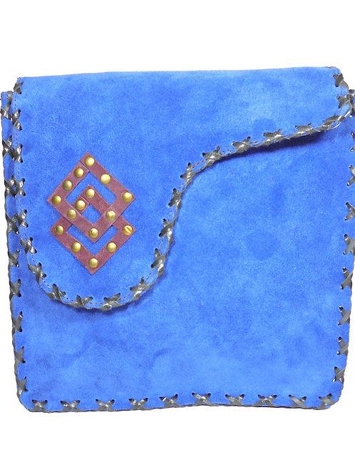 Verage Adimani Blue Leather Sling Bag