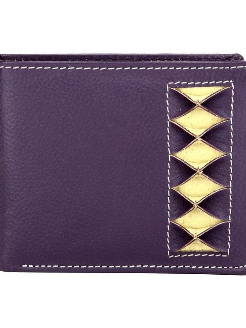 Verage Purple Leather Regular Wallet For Men