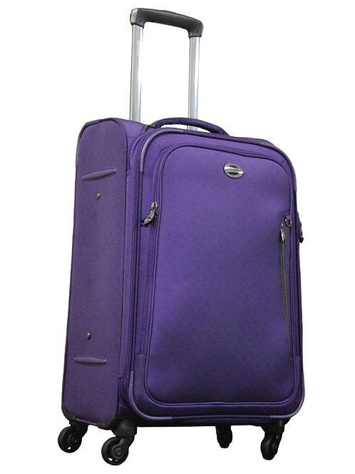 Verage Soft Luggage Purple 4 Wheel Trolley