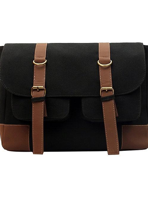 Verage Black Messenger Bag