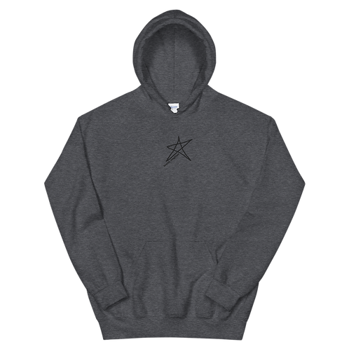 'Night' - Embroidered Logo Hoodie Grey