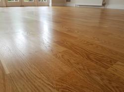Oak floor lacquered in Cambridge