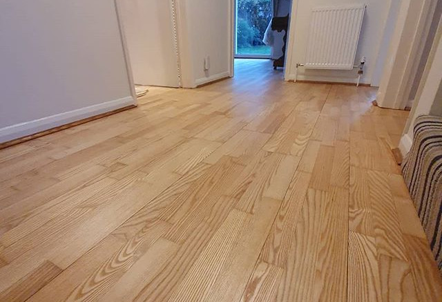 ash floor sanded