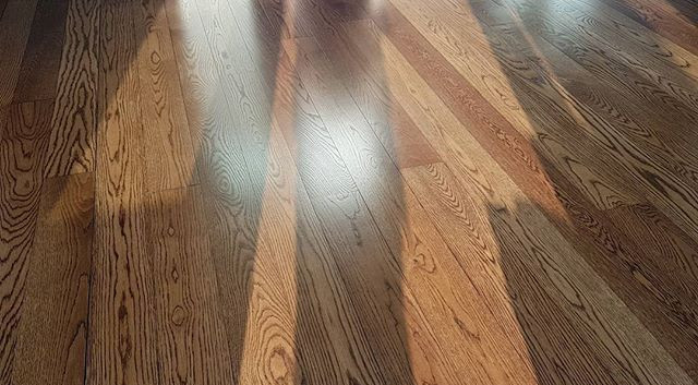 junkers sanded and stained