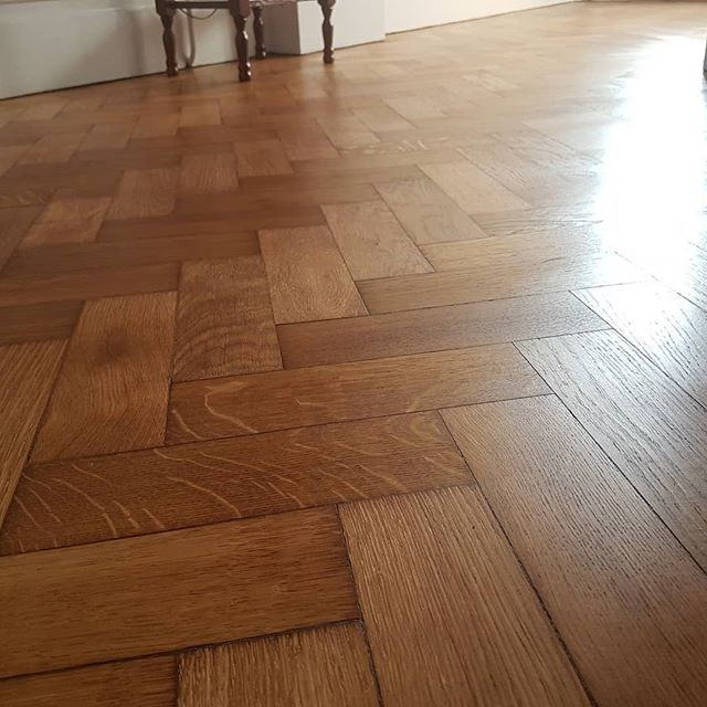 100 year old oak parquet today layed by