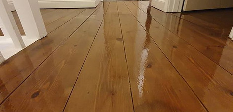 landing sanded , stained and lacquered