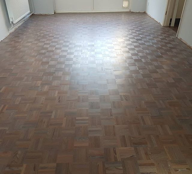 5 finger parquet, repaired,  sanded and