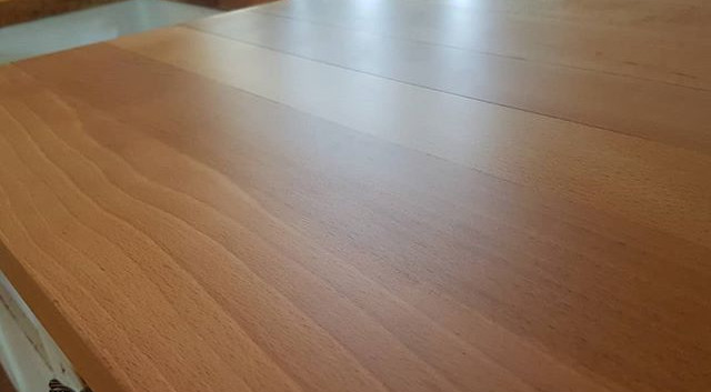 worktop sanded and finished