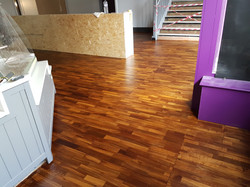 Tropical teak floor