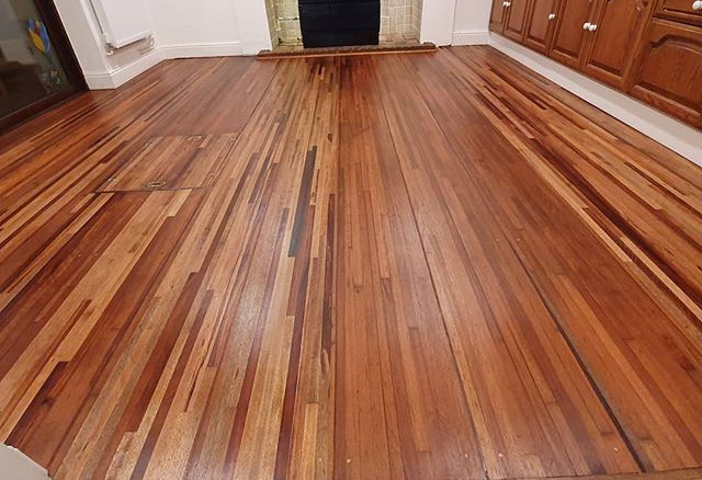 sapele floor oiled