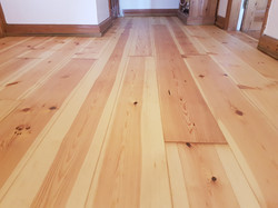 White pine boards oiled up
