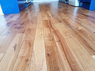 Oak floor sanded by timeless floor restorations