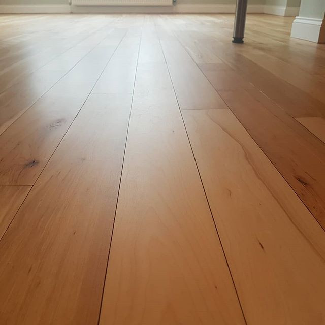 maple floor matt lacquered