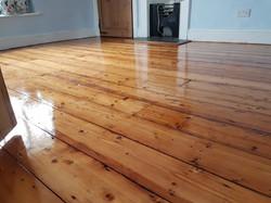 Victorian pine floor