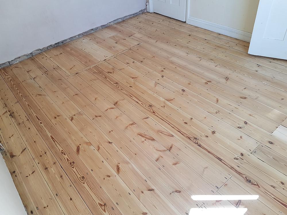 Pine wood floor sanding Cambridgeshire sanded