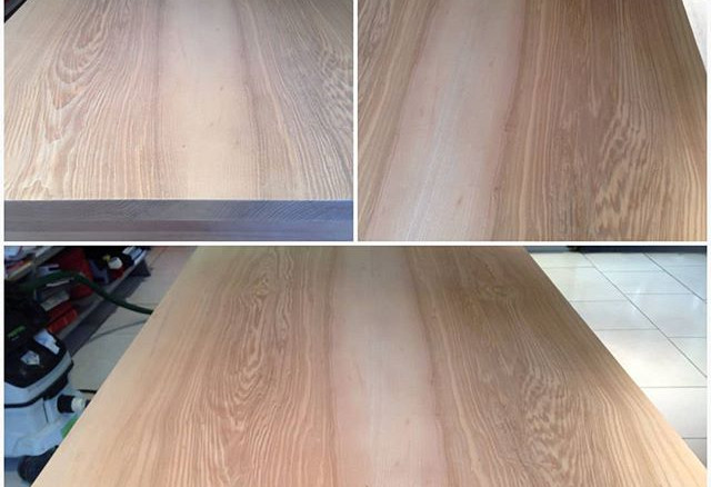 ash table sanded