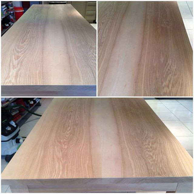 ash table sanded