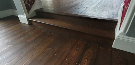 sanded stained and oiled