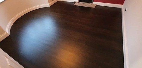 sanded , stained and matt lacquered