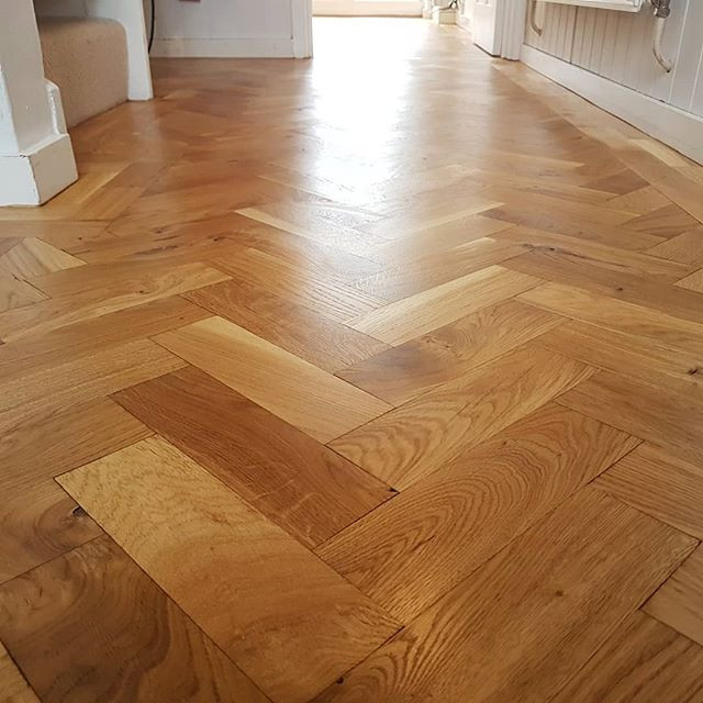 herringbone sanded and lacquered