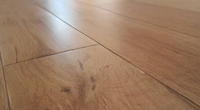 engineered oak sanded and lacquered