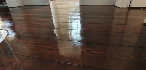 sand , stain and lacquer