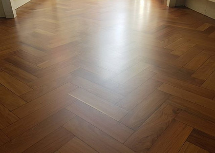 Beautiful parquet finished in Matt lacquer