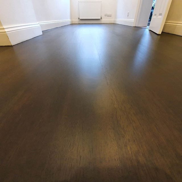 cherry floor stained and lacquered