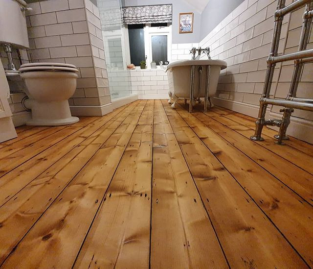 bathroom sanded and oiled