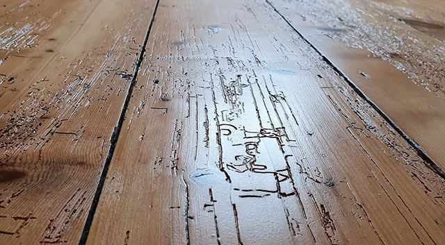 rustic pine sanded and finished