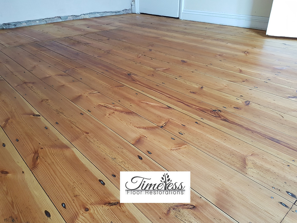 Pine wood floor sanding Cambridgeshire Oiled